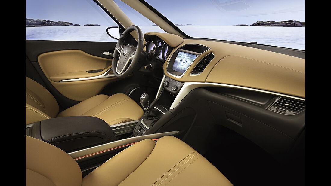 Opel Zafira Tourer Concept, Innenraum, Cockpit