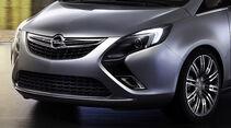 Opel Zafira Tourer Concept, Scheinwerfer, Kühlergrill