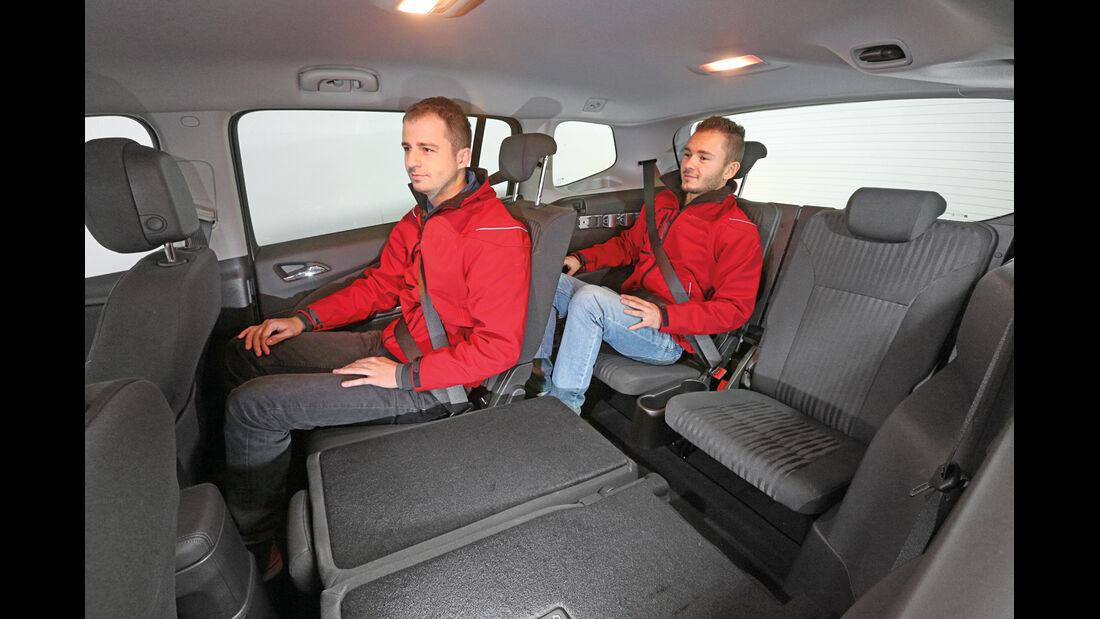 Opel Zafira Tourer, Dritte Reihe, Beinfreiheit