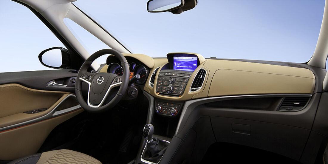 Opel Zafira Tourer, Innenraum