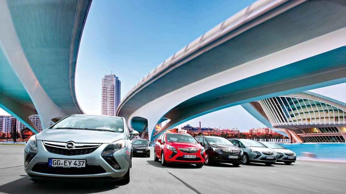 Opel Zafira, verschiedene Modelle
