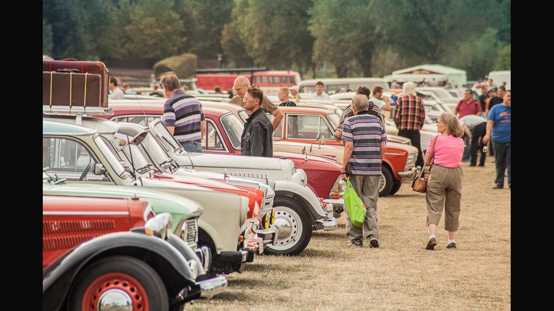 Ostauto-Treffen, Parkplatz, Modelle