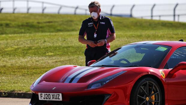 Otmar Szafnauer - Racing Point - Ferrari 488 Pista - GP England 2020 - Silverstone