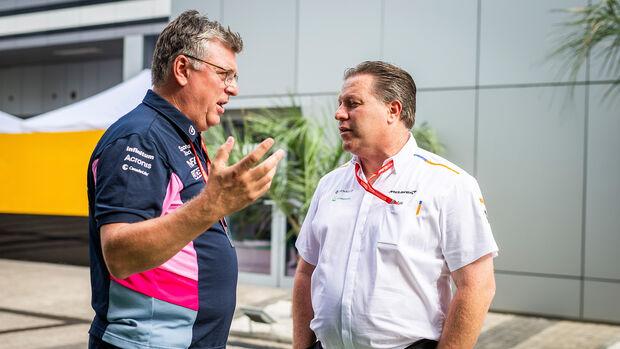 Otmar Szafnauer - Racing Point - Zak Brown - McLaren