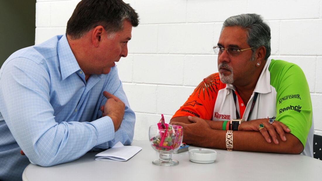 Otmar Szafnauer & Vijay Mallya