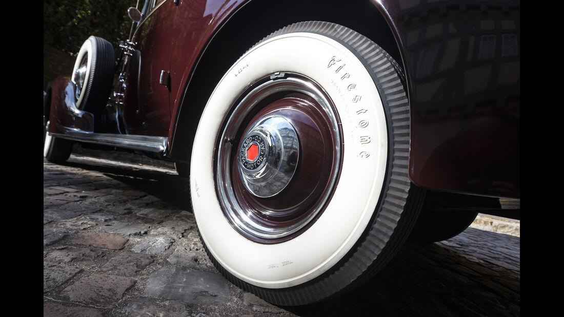 Packard 120 Convertible, Reifen, Weißrandreifen