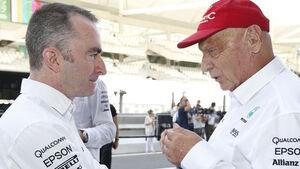 Paddy Lowe & Niki Lauda - GP Abu Dhabi 2016