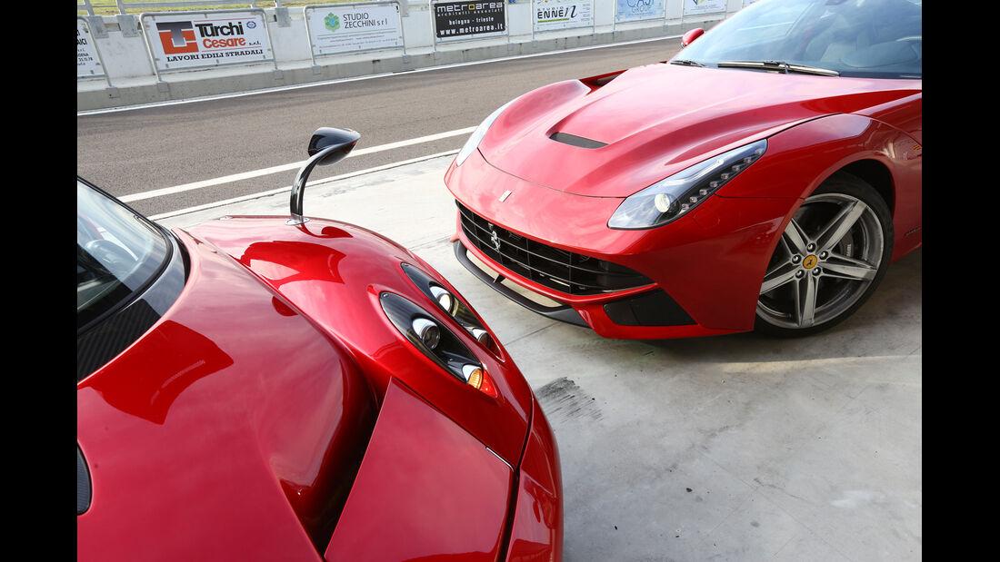 Pagani Huayra, Ferrari F12 Berlinetta, Front, Motorhauben