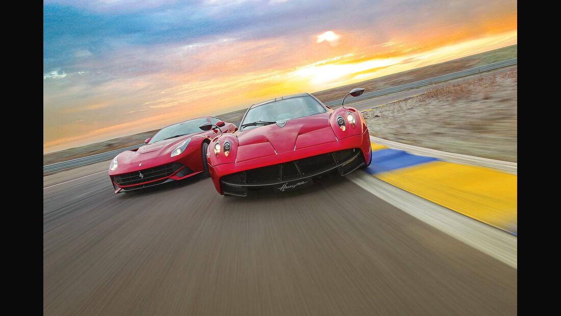 Pagani Huayra, Ferrari F12 Berlinetta, Frontansicht