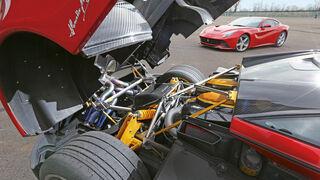 Pagani Huayra, Motor, Motorhaube