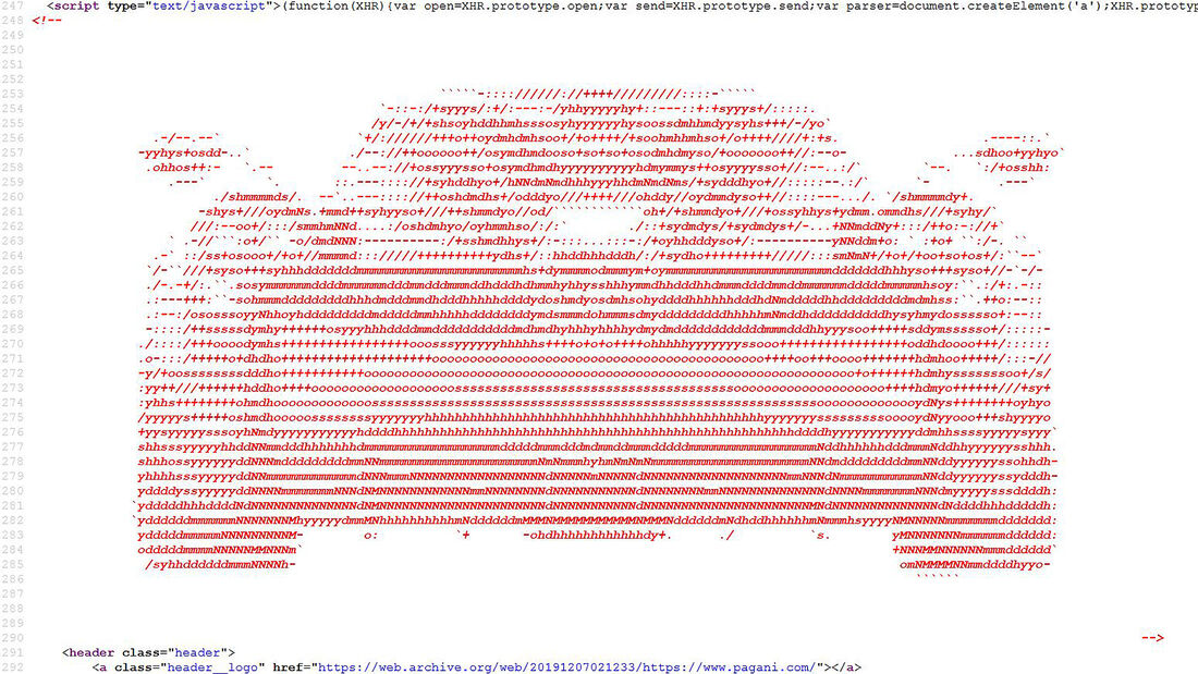 Pagani Programmcode