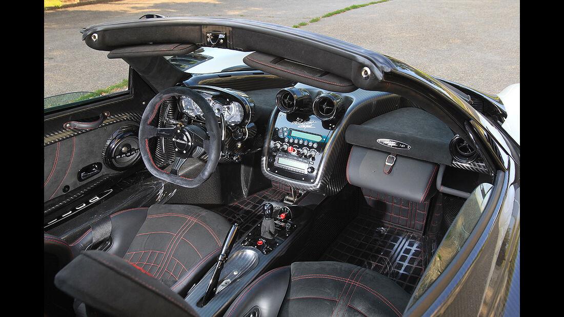Pagani Zonda Cinque Roadster, Cockpit, Innenraum