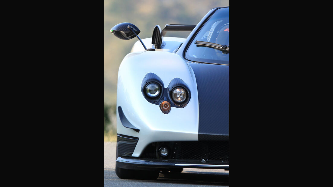 Pagani Zonda Cinque Roadster, Front, Spiegel