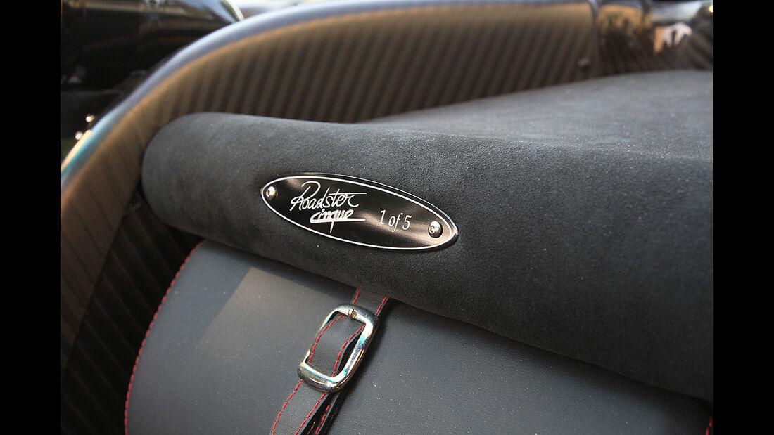 Pagani Zonda Cinque Roadster, Serienplakette