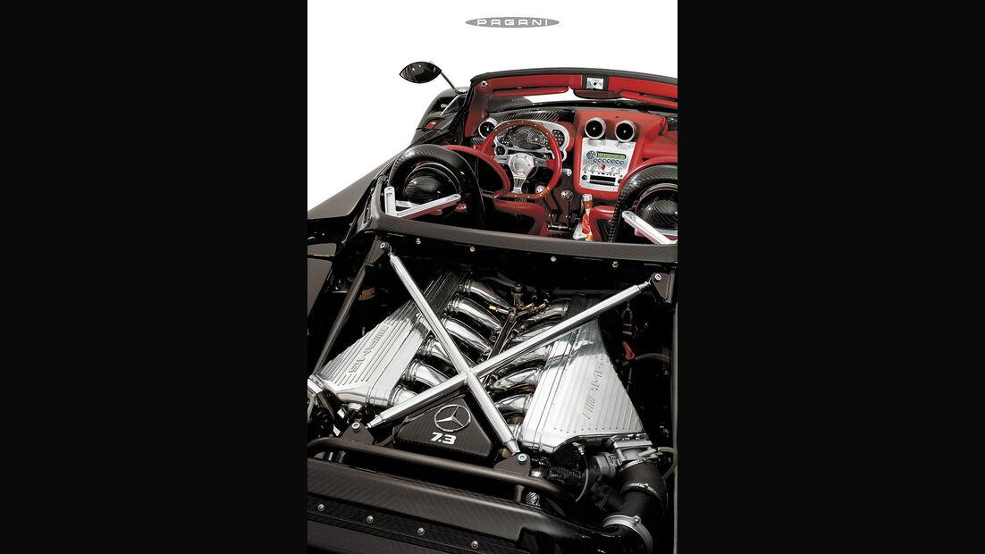 Pagani Zonda Roadster F, Motor, Cockpit