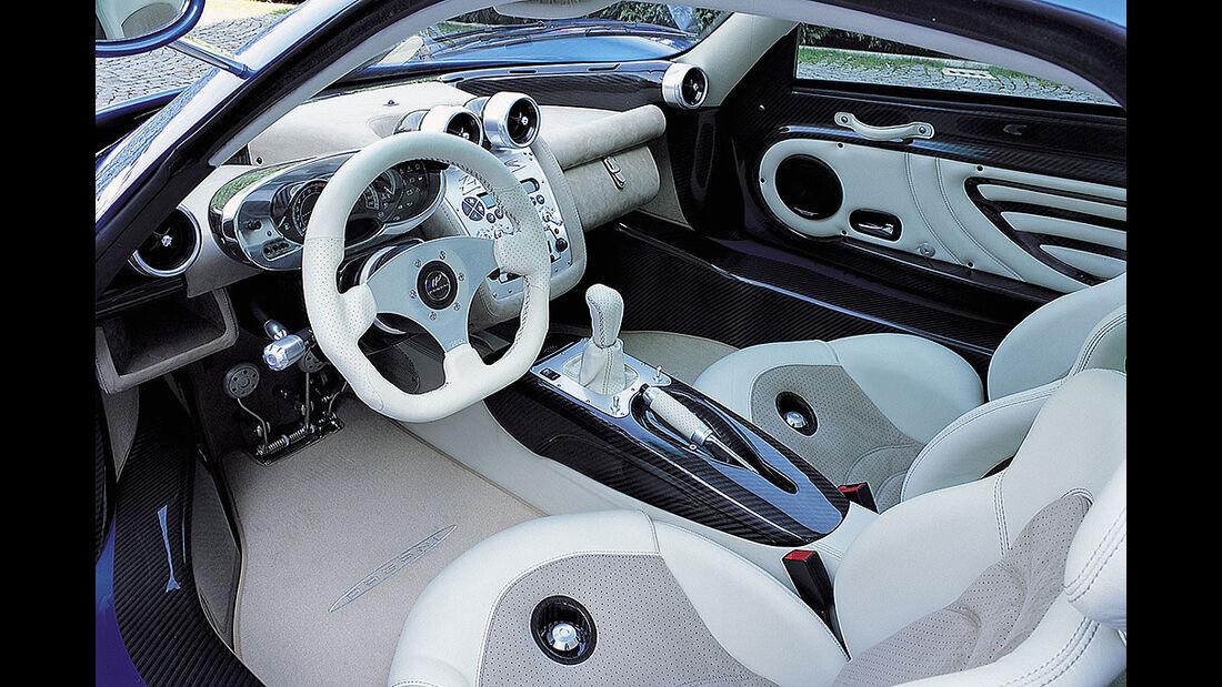 Pagani Zonda S, Innenraum, Cockpit