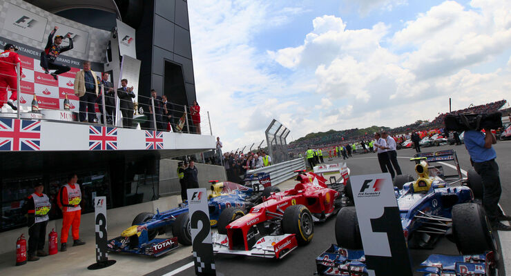 Parc Fermé GP England Silverstone 2012