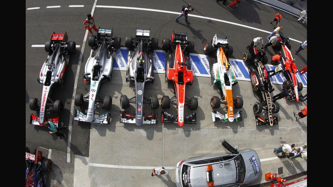 Parc Fermé - GP Italien 2013