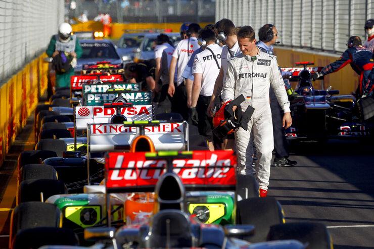 Parc Fermé Schumacher GP Australien 2012