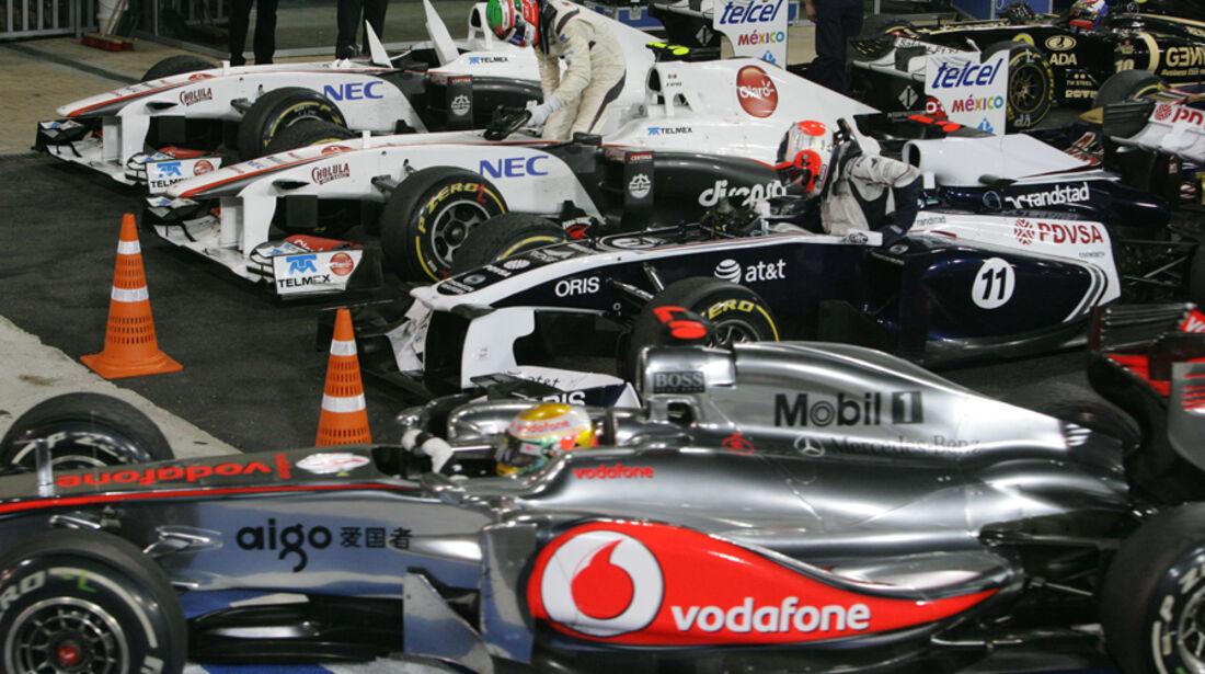 Parc Ferme GP Abu Dhabi 2011
