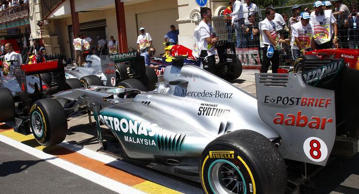 Parc Ferme GP Europa 2011