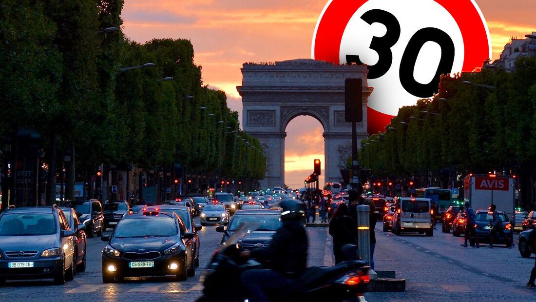 Paris Frankreich Tempo 30 Stadt Tempolimit