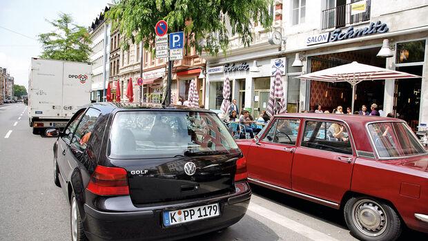 Parken, Zweite Reihe