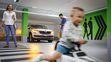 Parken mit Skoda Connected
