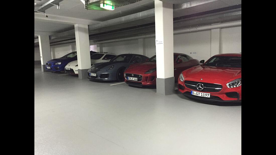 Parkplatz Redaktionsgarage