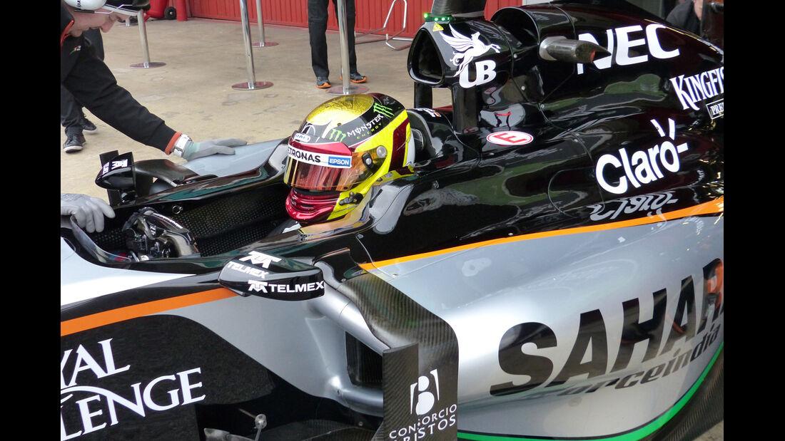 Pascal Wehrlein - Force India - Formel 1-Test - Barcelona - 21. Februar 2015