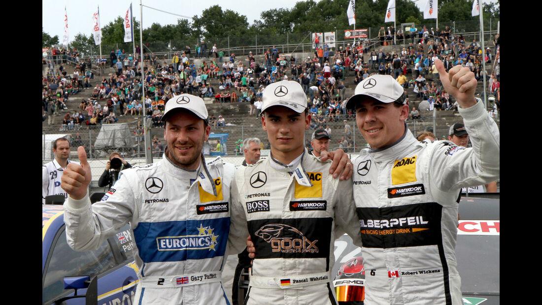 Pascal Wehrlein - Gary Paffett - Robert Wickens - DTM - Norisring - 27.06.2015