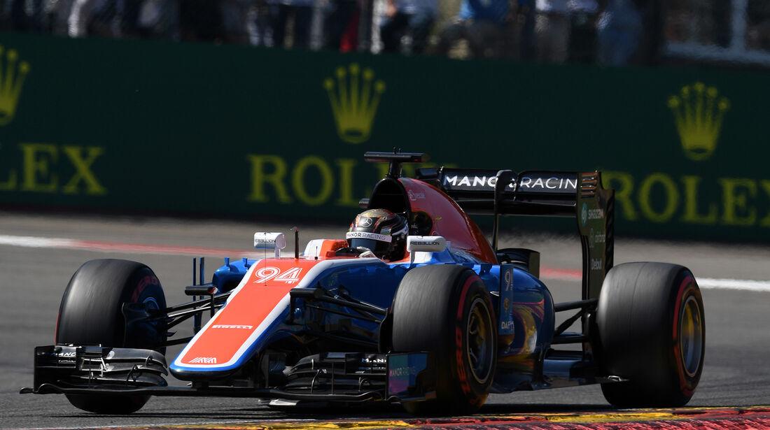Pascal Wehrlein - Manor - Formel 1 - GP Belgien - Spa-Francorchamps - 27. August 2016