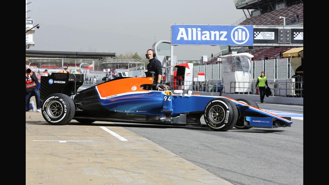 Pascal Wehrlein - Manor - Formel 1-Test - Barcelona - 22. Februar 2016