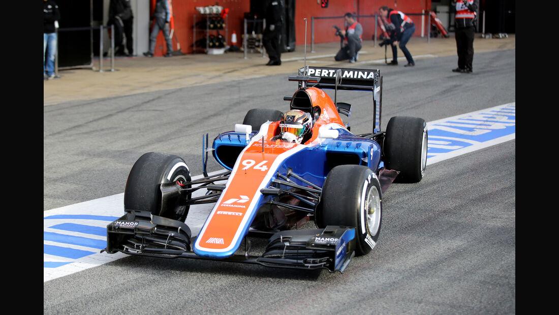 Pascal Wehrlein - Manor - Formel 1-Test - Barcelona - 3. März 2016