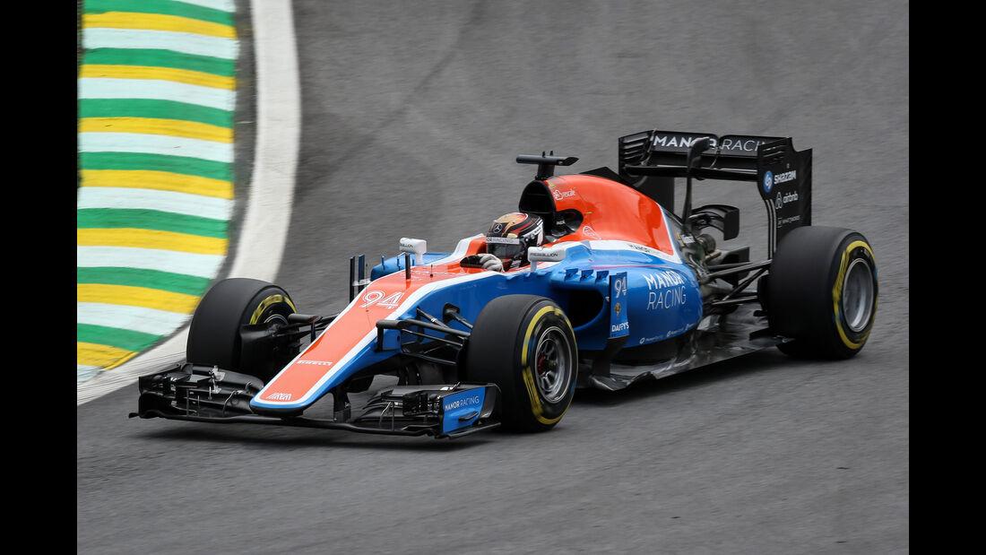 Pascal Wehrlein - Manor - GP Brasilien 2016 - Interlagos - Qualifying