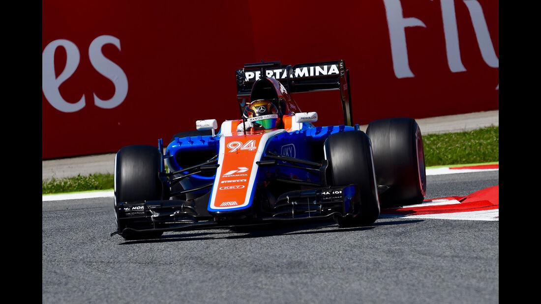 Pascal Wehrlein - Manor - GP Spanien 2016 - Qualifying - Samstag - 14.5.2016