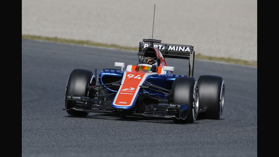 Pascal Wehrlein - Manor Racing - Formel 1-Test - Barcelona - 3. März 2016