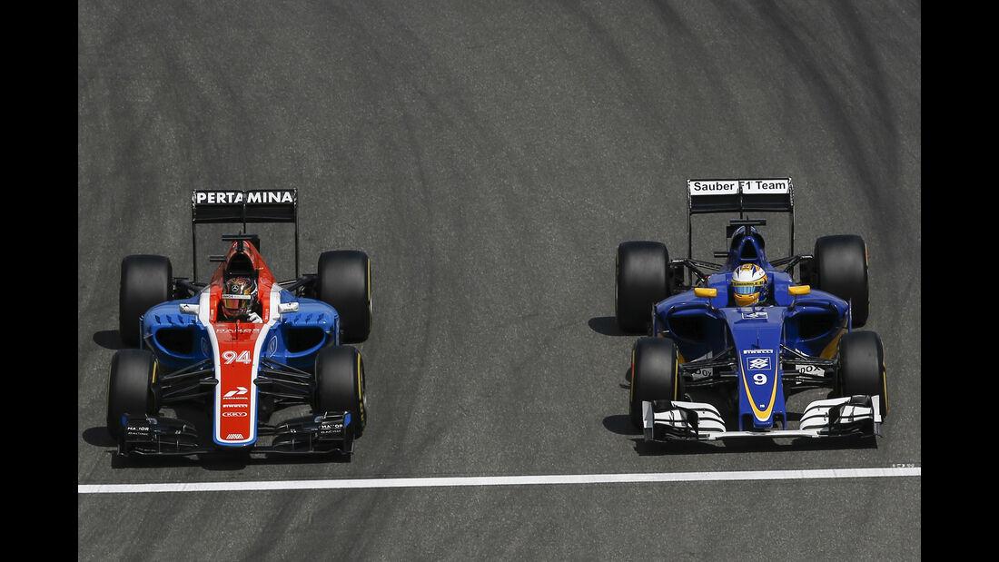 Pascal Wehrlein & Marcus Ericsson - Manor vs. Sauber - Formel 1 - GP Deutschland - 29. Juli 2016