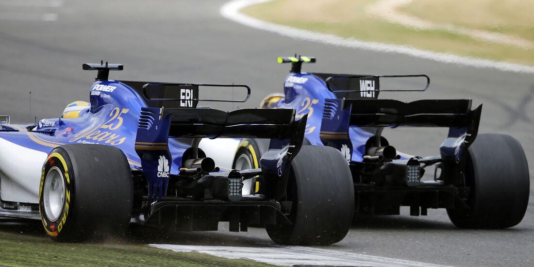 Pascal Wehrlein - Marcus Ericsson - Sauber - GP England 2017 - Silverstone - Rennen
