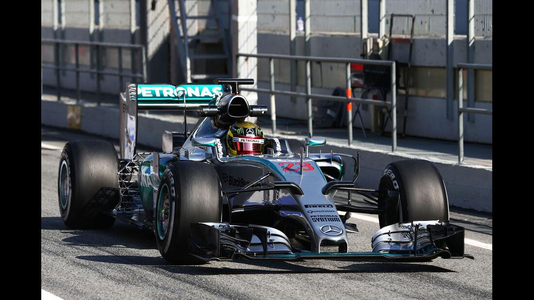 Pascal Wehrlein - Mercedes - Formel 1-Test - Barcelona - 19. Februar 2015