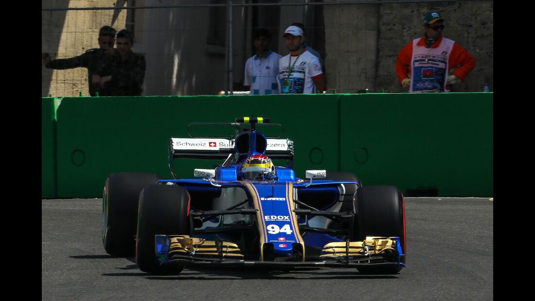 Pascal Wehrlein - Sauber - Formel 1 - GP Aserbaidschan 2017 - Training - Freitag - 23.6.2017