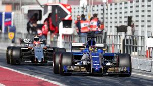 Pascal Wehrlein - Sauber - Formel 1 - Test - Barcelona - 9. März 2017