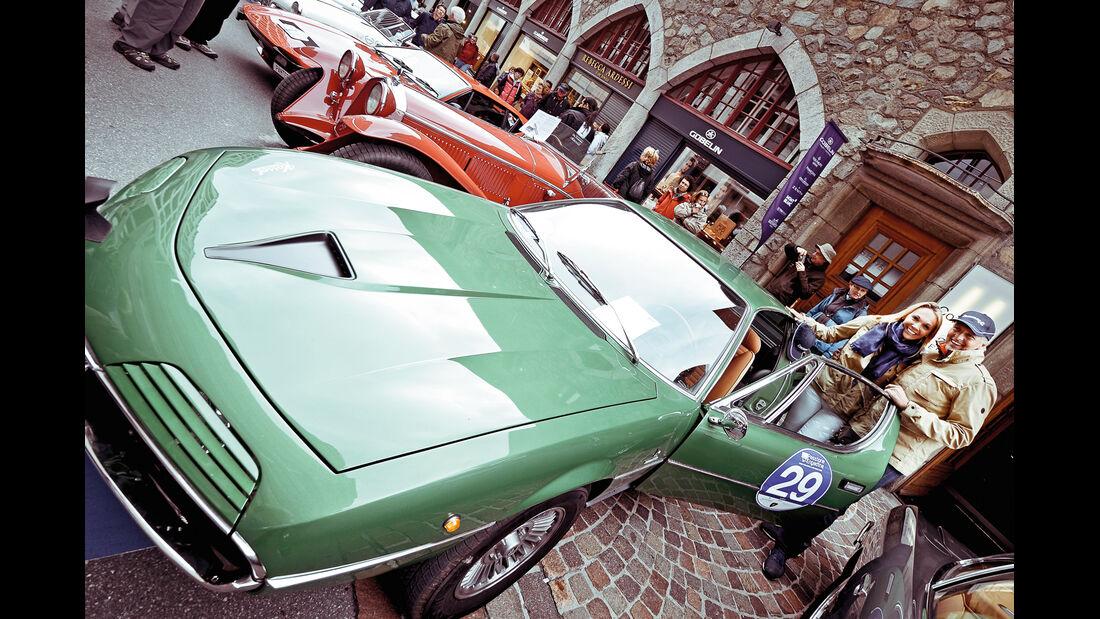 Passione Engadina, Federica und Eugenio, Alfa Romeo Montreal, 1970