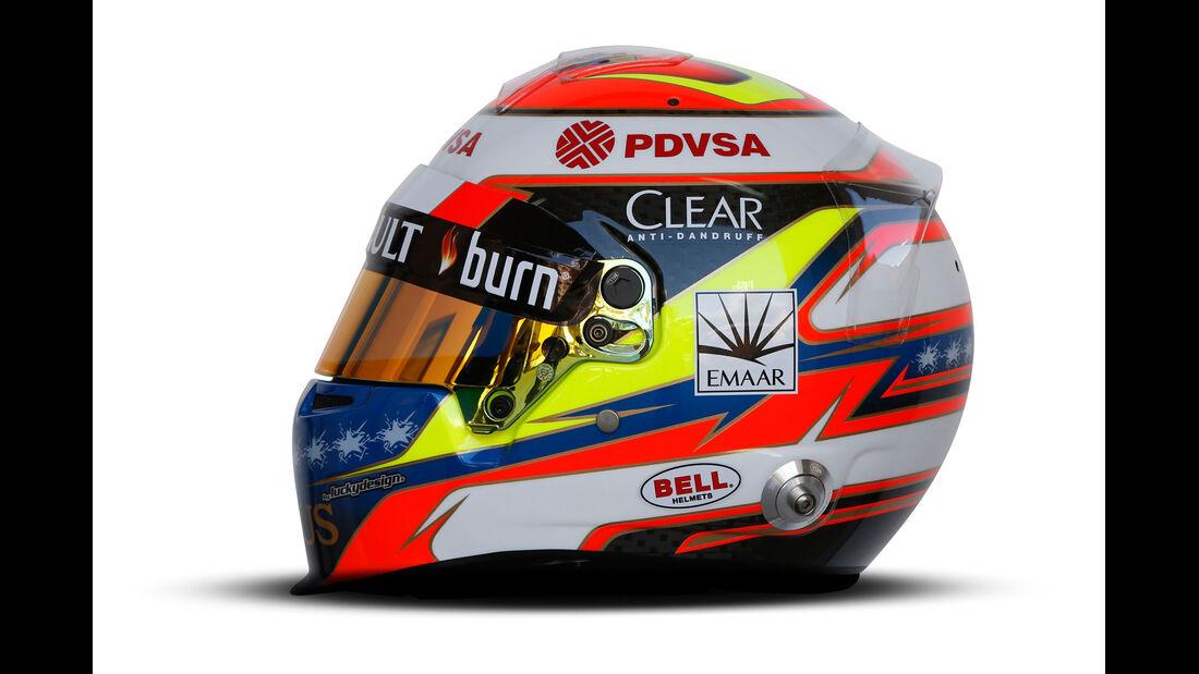Pastor Maldonado - Helm  - Formel 1 - 2014