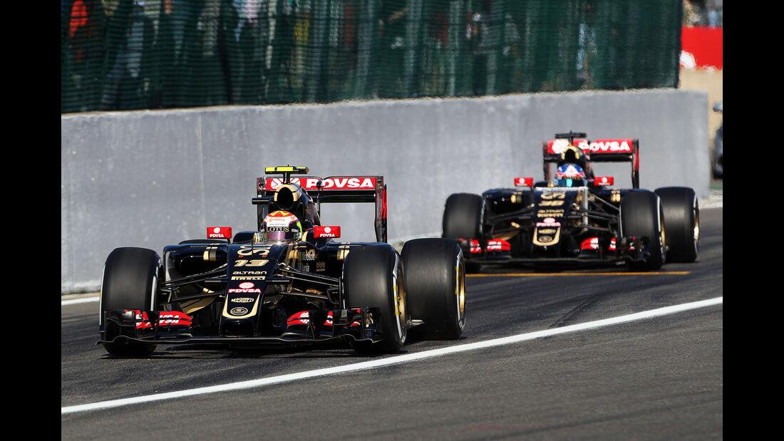 Pastor Maldonado & Jolyon Palmer - Lotus - Formel 1 - GP Belgien - Spa-Francorchamps - 21. August 2015