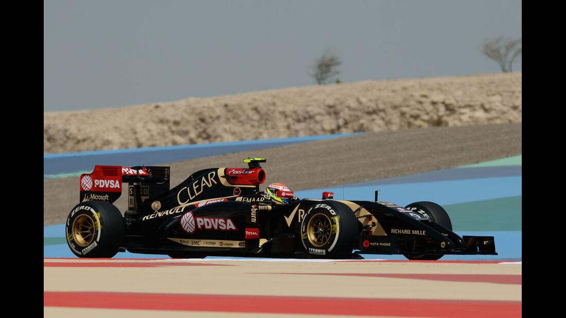 Pastor Maldonado - Lotus - Formel 1 - GP Bahrain - Sakhir - 4. April 2014