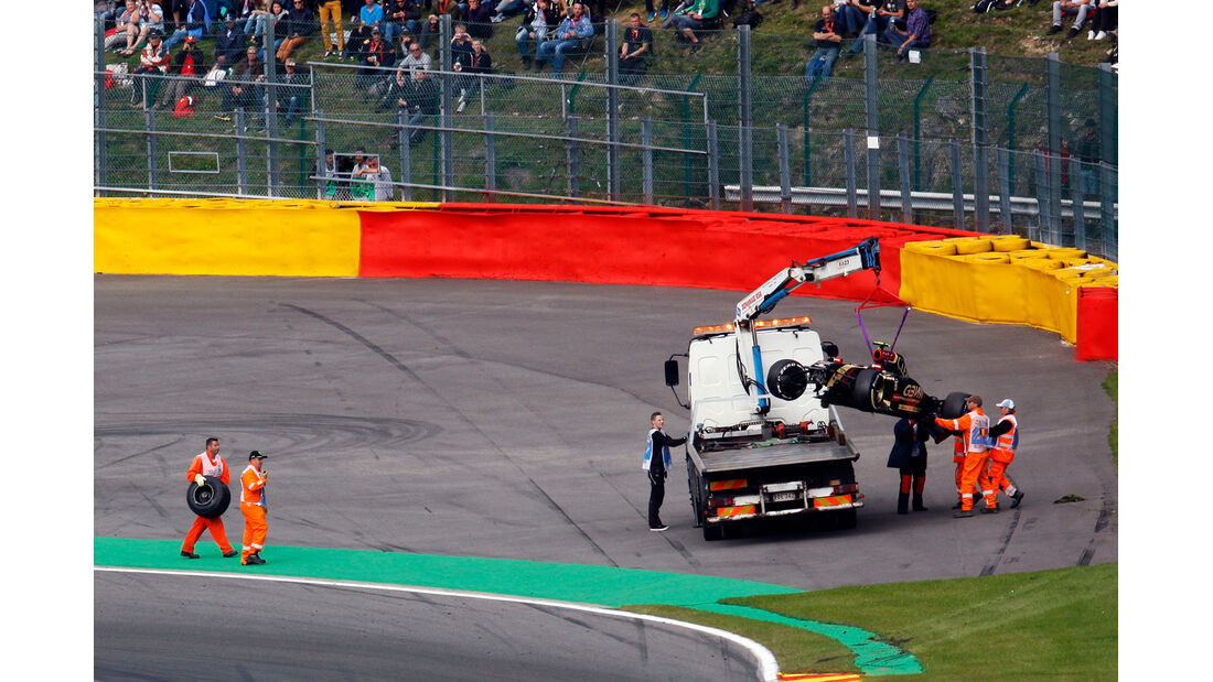 Pastor Maldonado - Lotus - Formel 1 - GP Belgien - Spa-Francorchamps - 22. August 2014