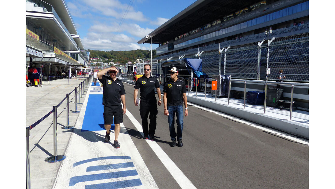 Pastor Maldonado - Lotus - Formel 1 - GP Russland - Sochi - Donnerstag - 8.10.2015