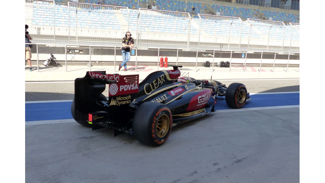 Pastor Maldonado - Lotus - Formel 1 - Test - Bahrain - 21. Februar 2014