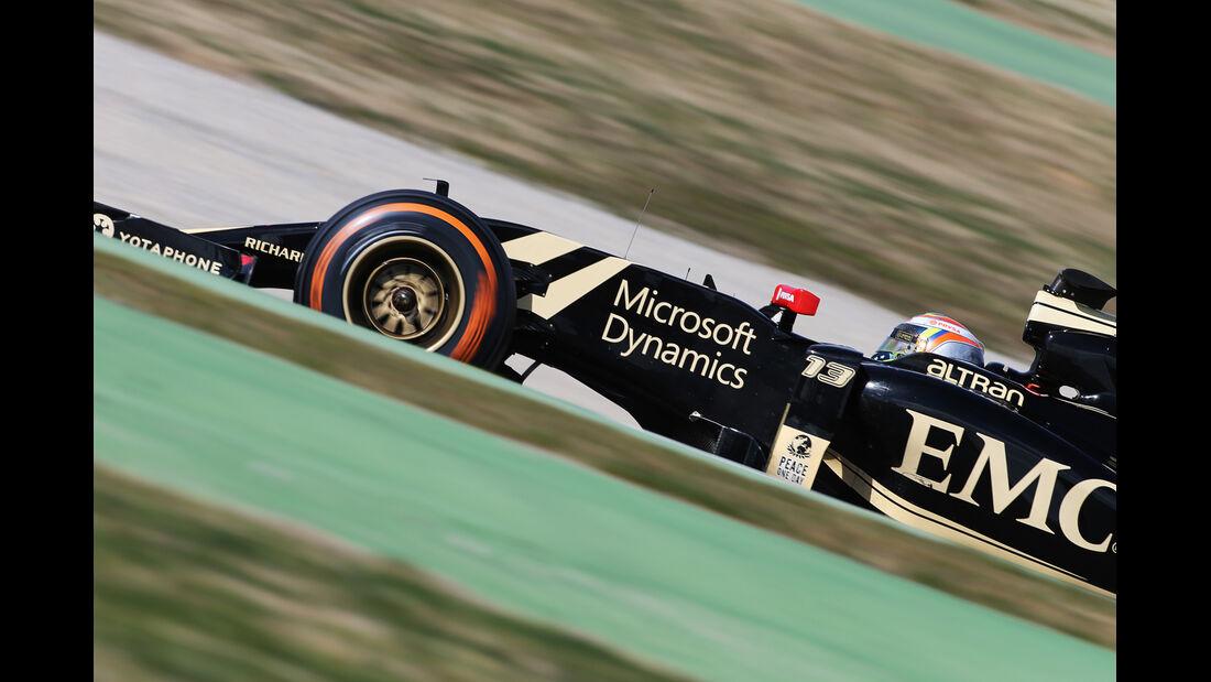 Pastor Maldonado - Lotus - Formel 1-Test - Barcelona - 27. Februar 2015